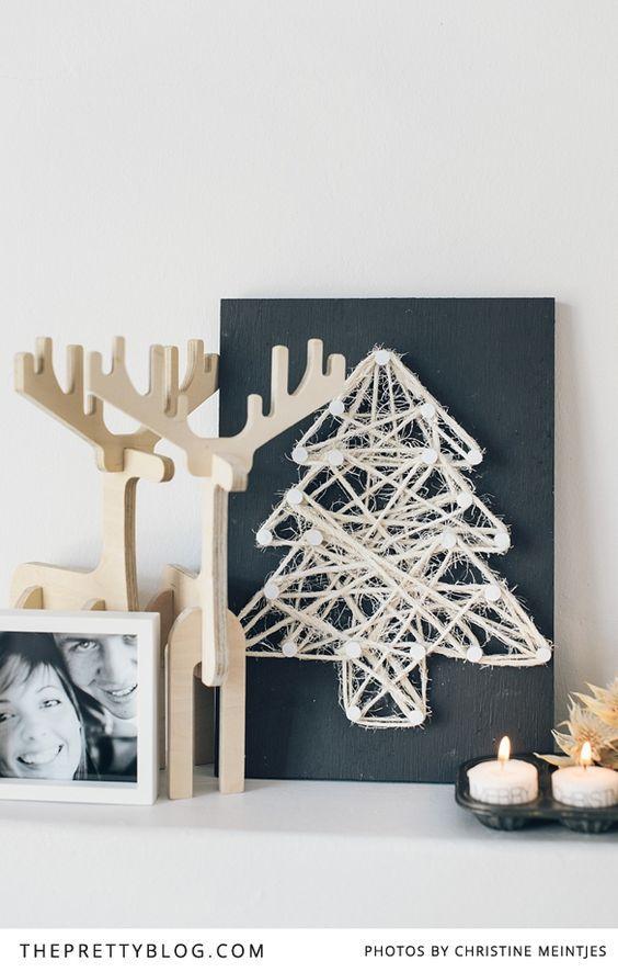 christmas string art