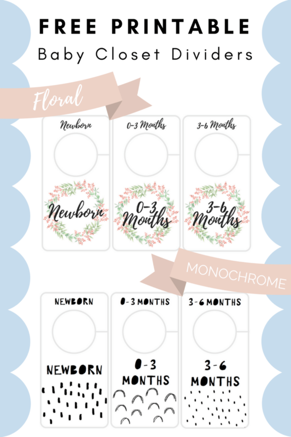 photograph regarding Baby Printable called Cost-free Printable Little one Closet Dividers Preemie in the direction of 24 Weeks - 2
