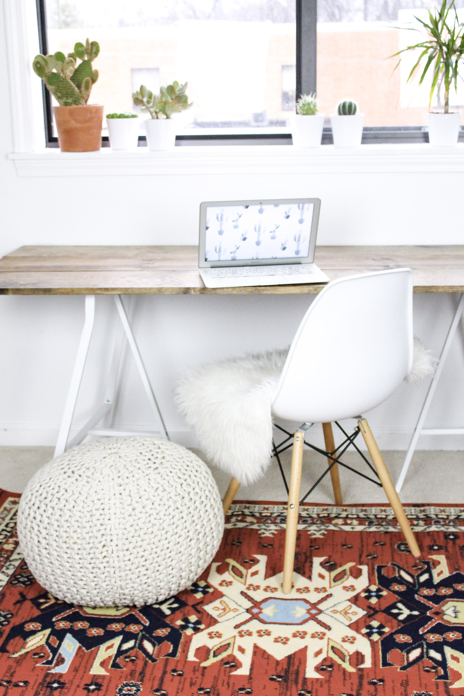 4 Step Diy Wood Desk Cassie Scroggins
