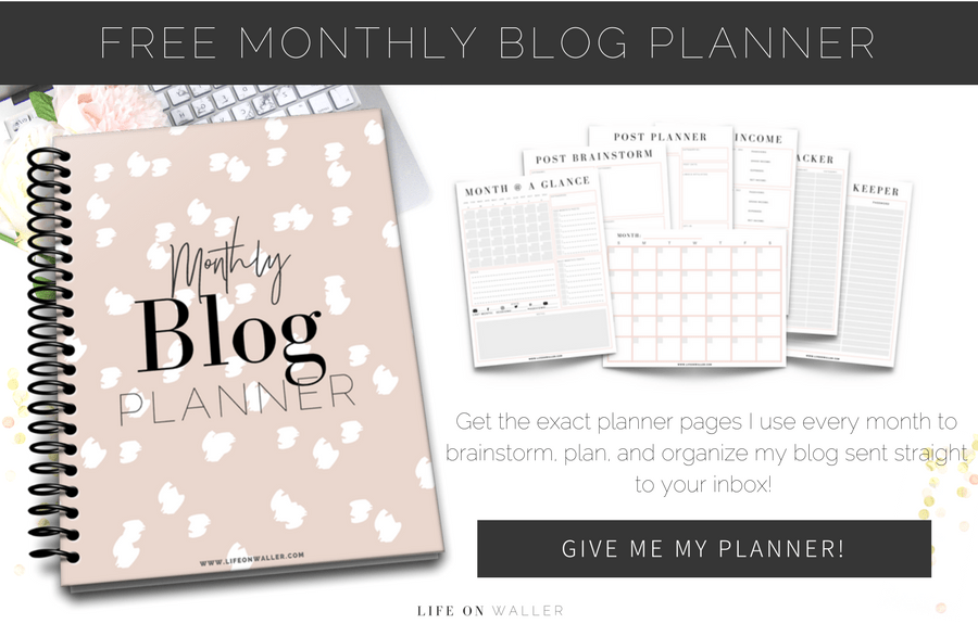 free monthly blog planner