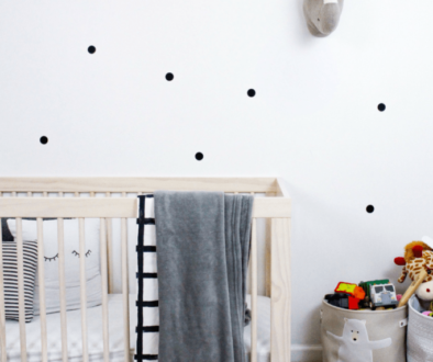 Polka dot nursery wall