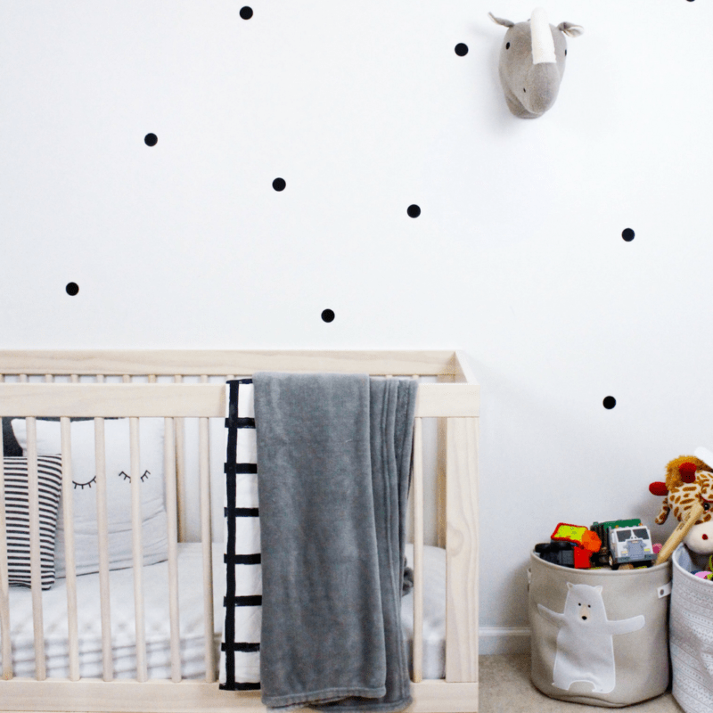 DIY Polka Dot Nursery Wall – No Paint, No Damage, Easy Removal!