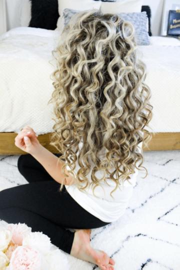 natural looking voluminous tight curls