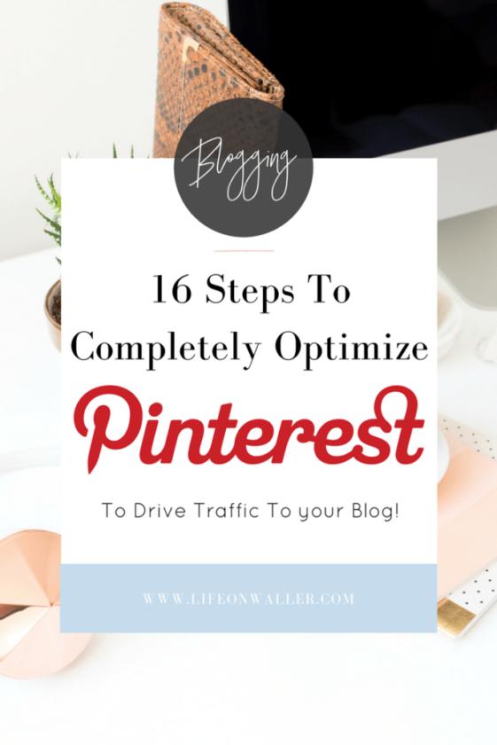 Optimize pinterest for your blog