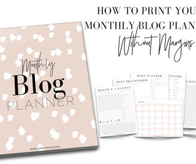 How to Print Your Monthly Blog Planner