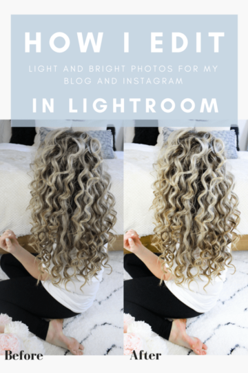how I edit light and bright photos in lightroom