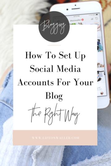 set up social media accounts the right way