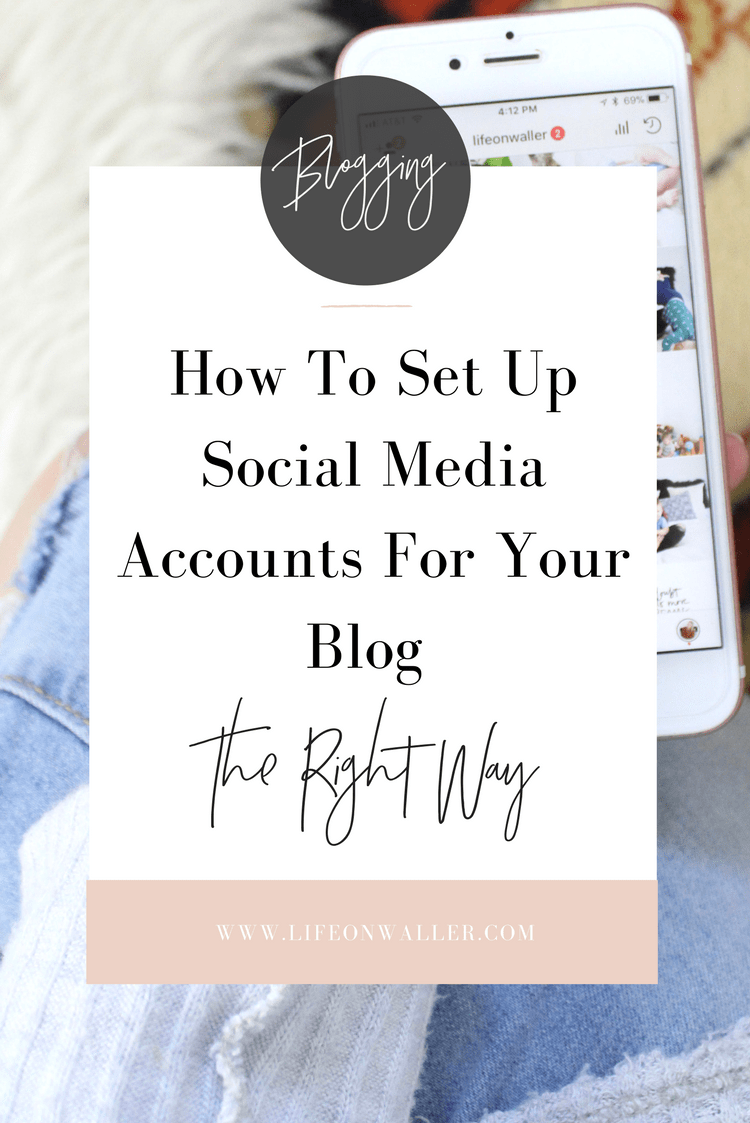 set up social media accounts the right way