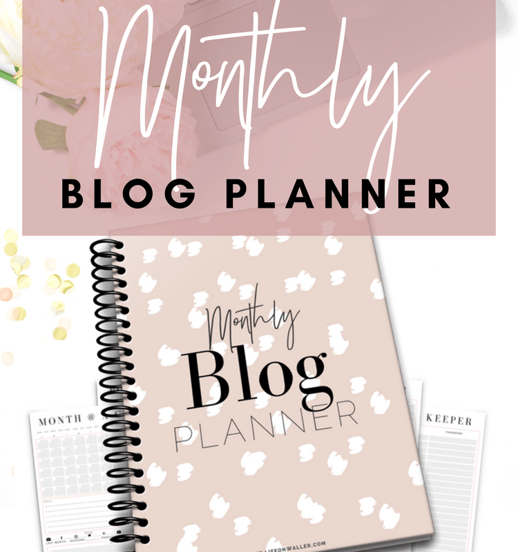Free Printable Monthly Blog Planner