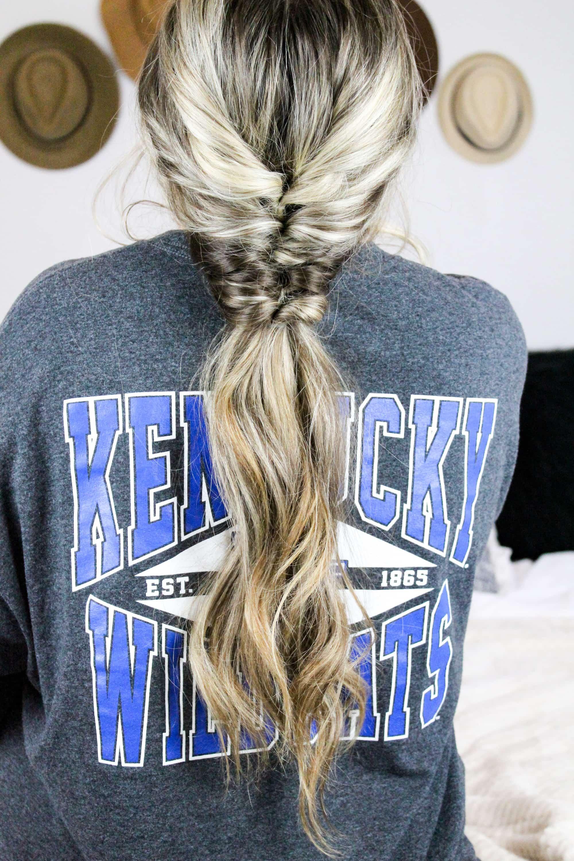 faux fishtail ponytail