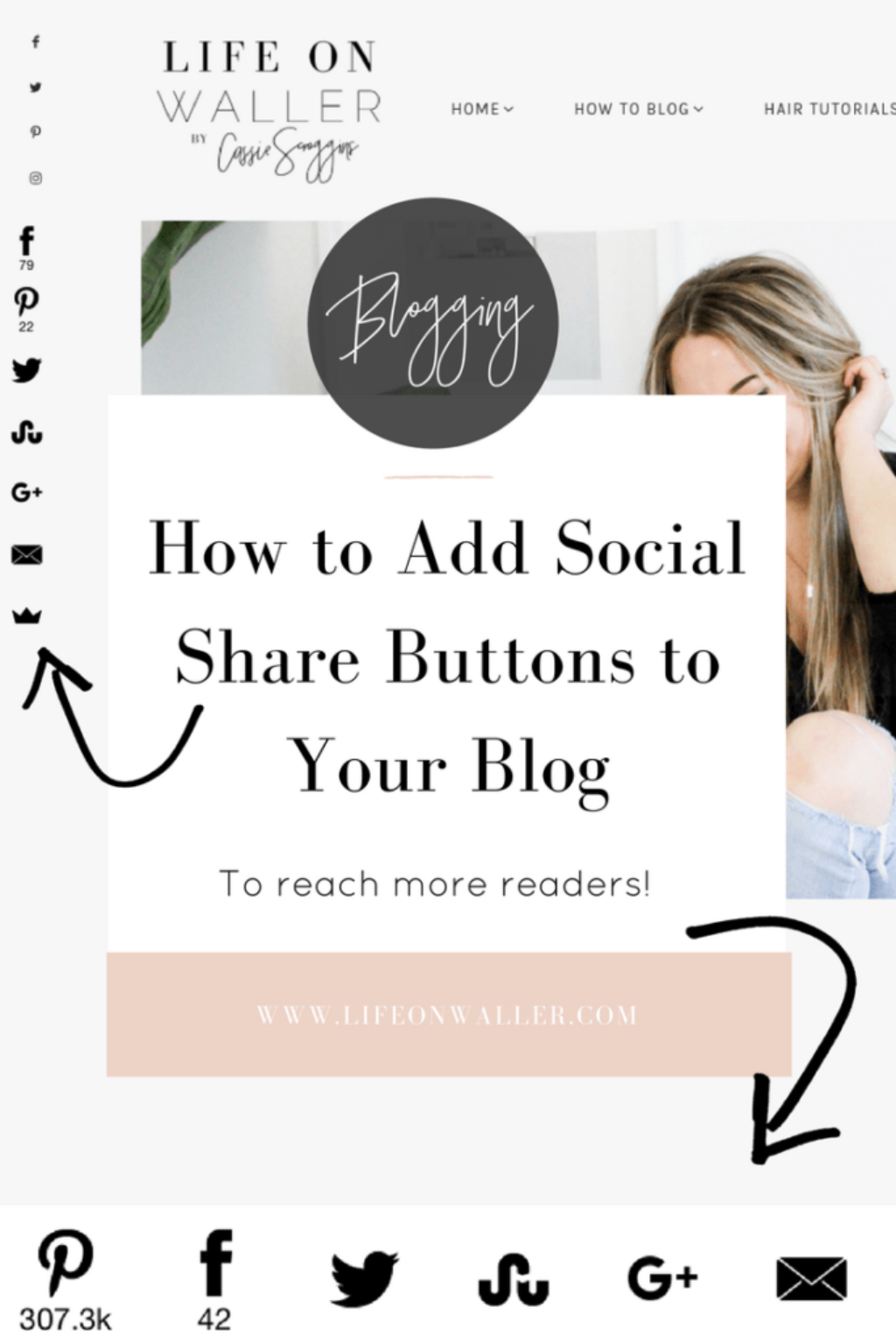 add share buttons to your blog