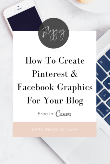 how to create pinterest and facebook images for your blog in canvas