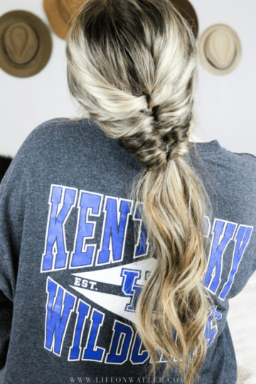 faux fishtail ponytail hair tutorial