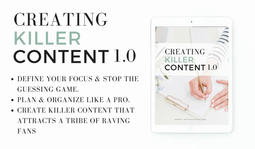 creating killer content course