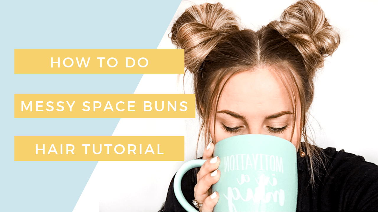 How To Do Messy Space Buns Hair Tutorial Cassie Scroggins