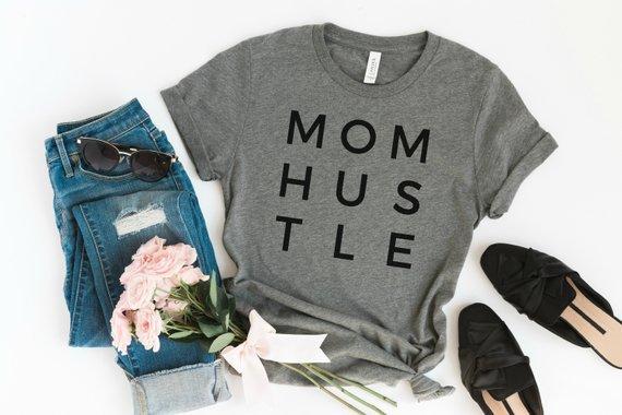 cute mom shirt mom hustle