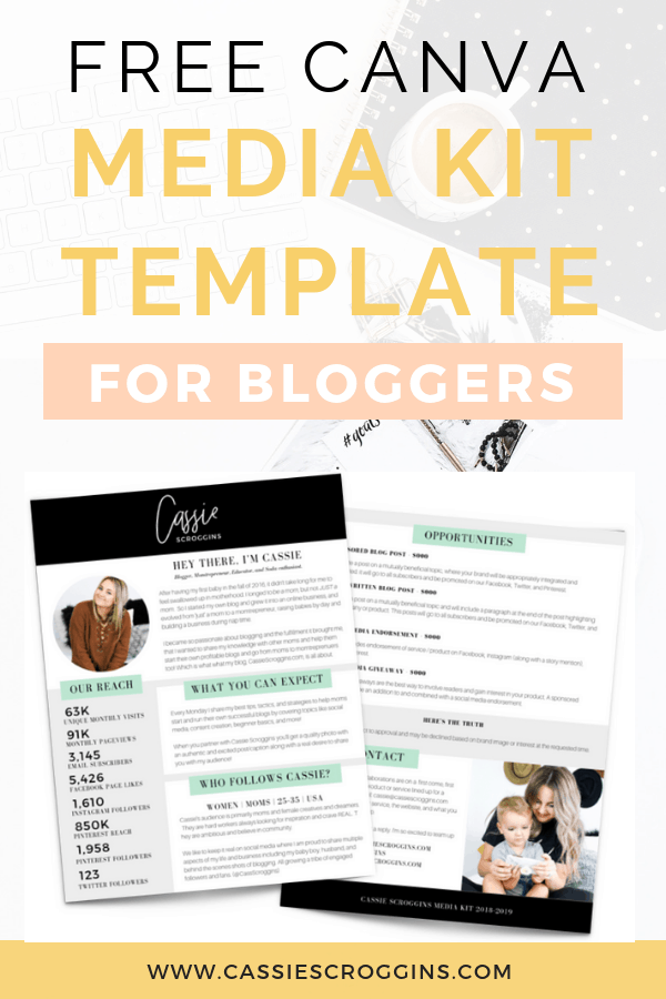Free Canva Media Kit Template For Bloggers
