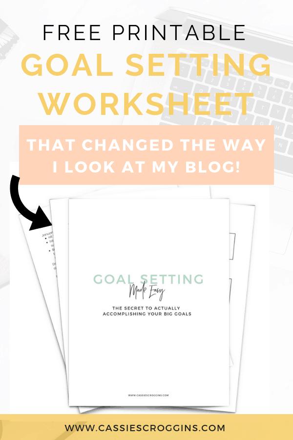 free goal setting worksheet