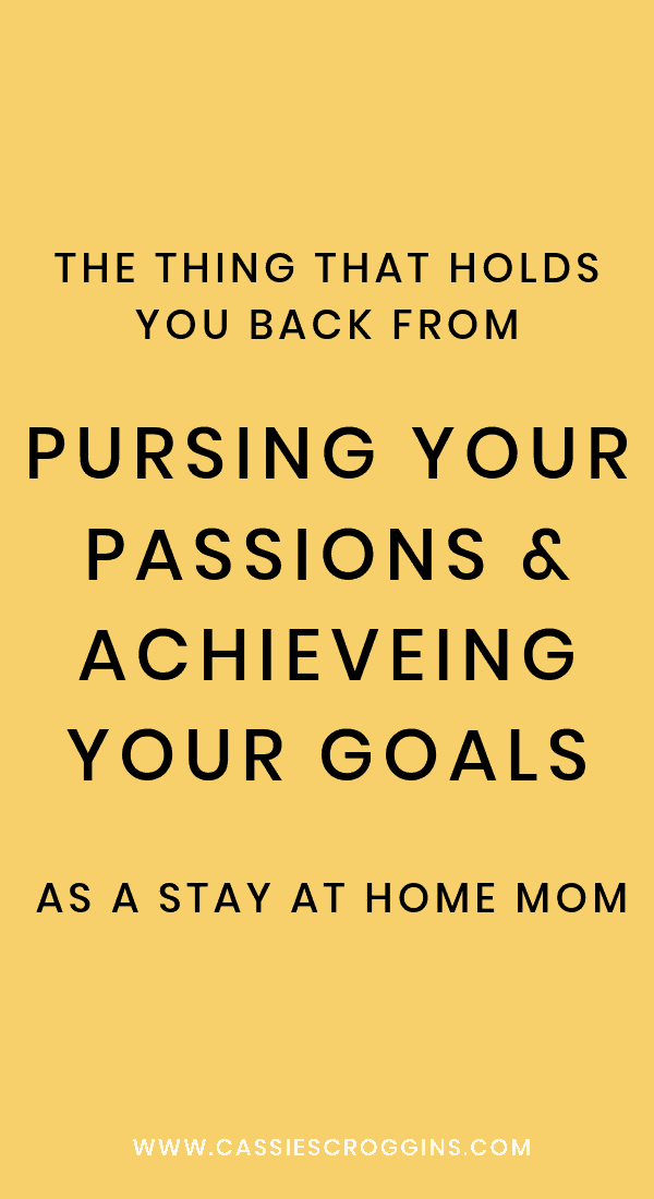 you're a bad mom for pursing your dreams