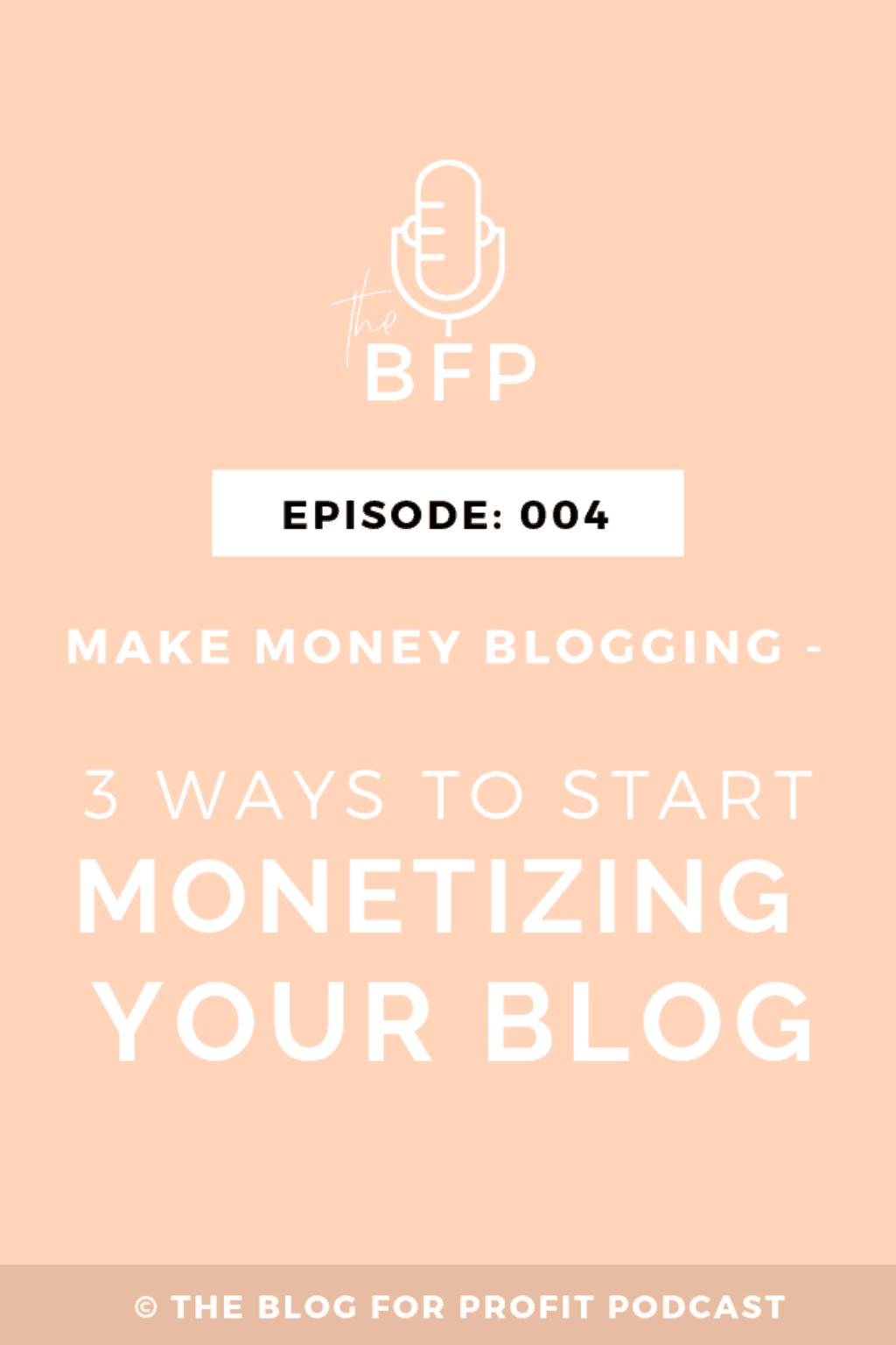 start making money from your blog