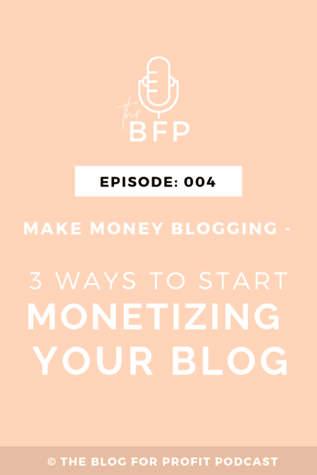 start making money from your blog
