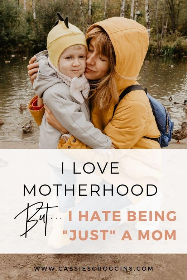 love motherhood but hate being just a mom