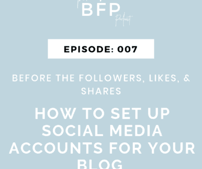 set up social media accounts for your blog