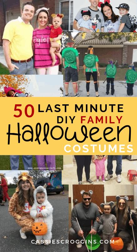 diy last minute family halloween costumes