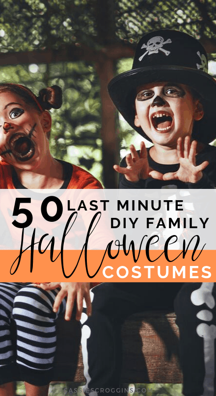 diy last minute family halloween costumes