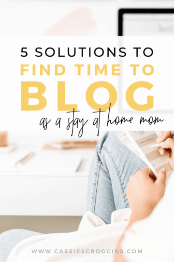 find the time to blog