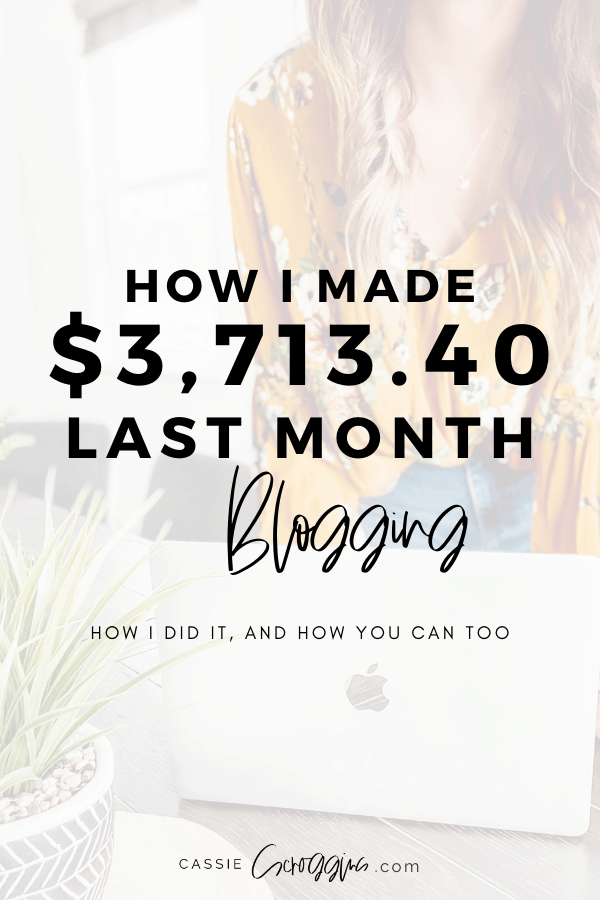 How I Made $3,713.40 in One Month Blogging - December 2019 Blog Income Report