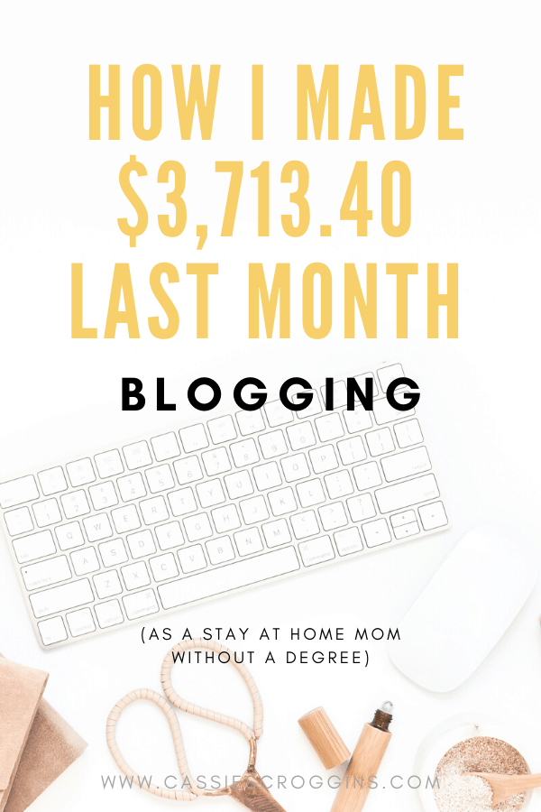 full time blog income report
