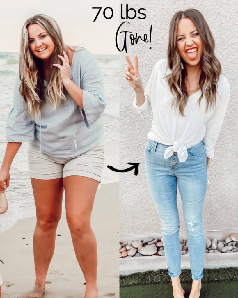 how to lose 70 lbs before and after pic