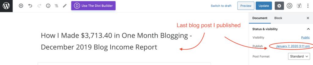 last blog post published I make $100 a day