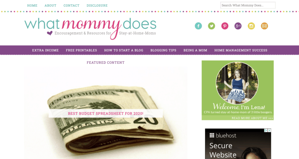 successful mom blog what mommy does