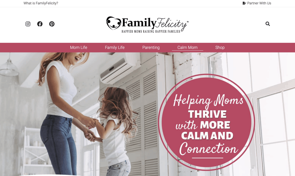 successful mom blog family felicity