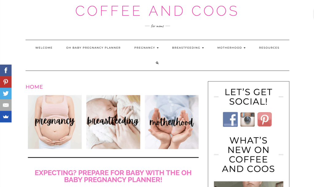 successful mom blog coffee and coos