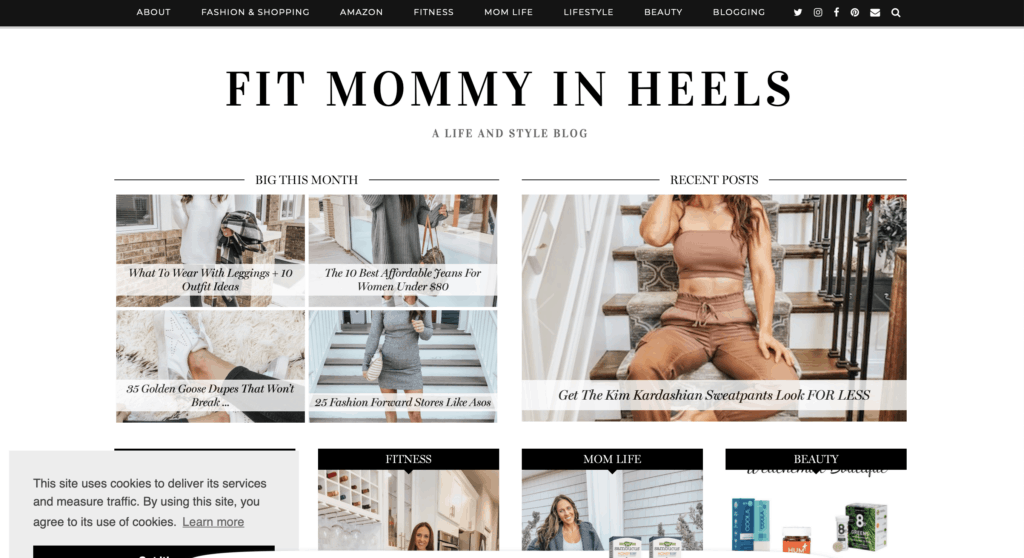 fit mommy in heels