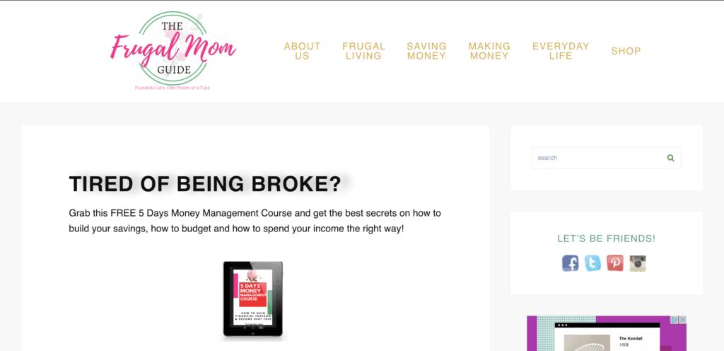 successful mom blog