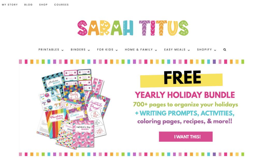 successful mom blog sarah titus