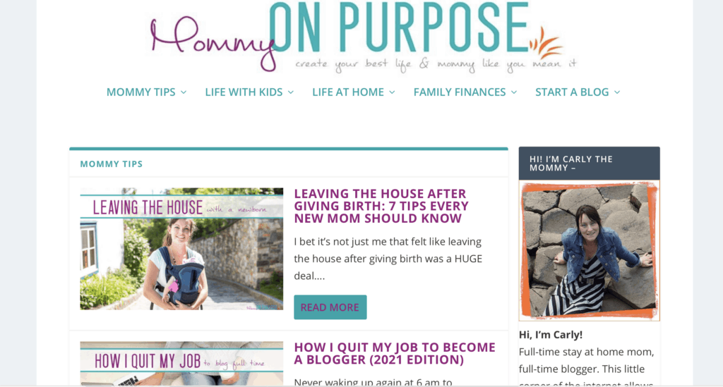 successful mom blog mommy on purpose