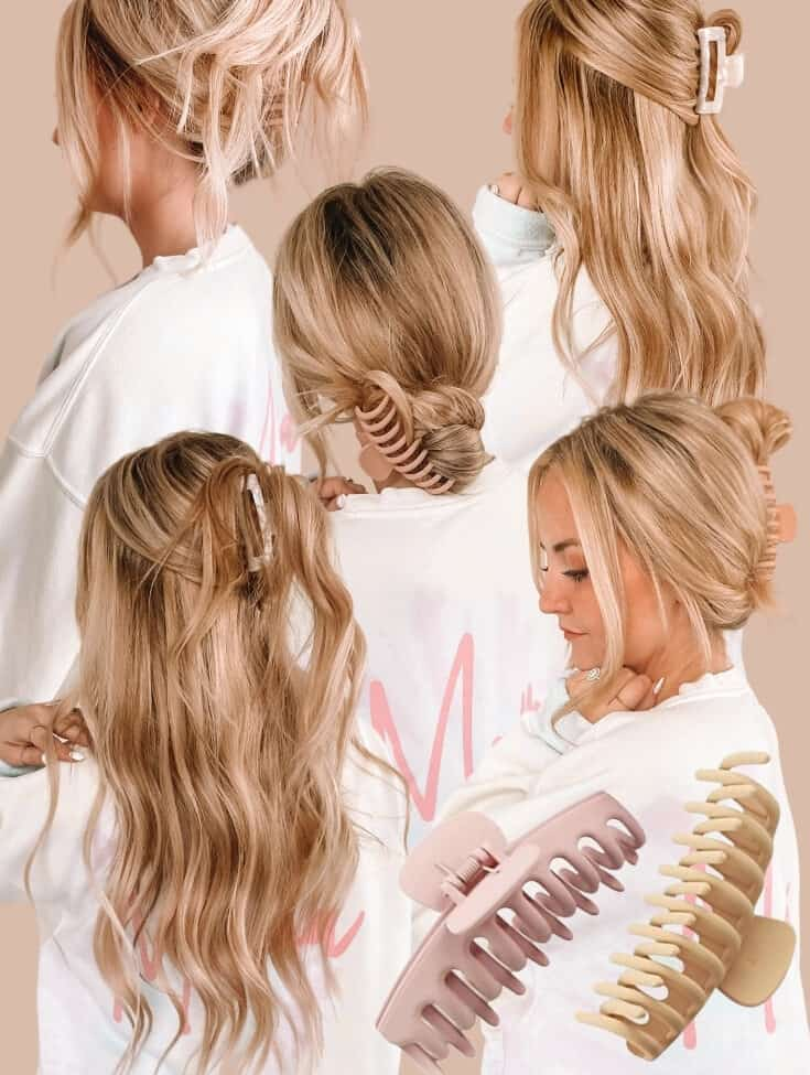claw clip hairstyles