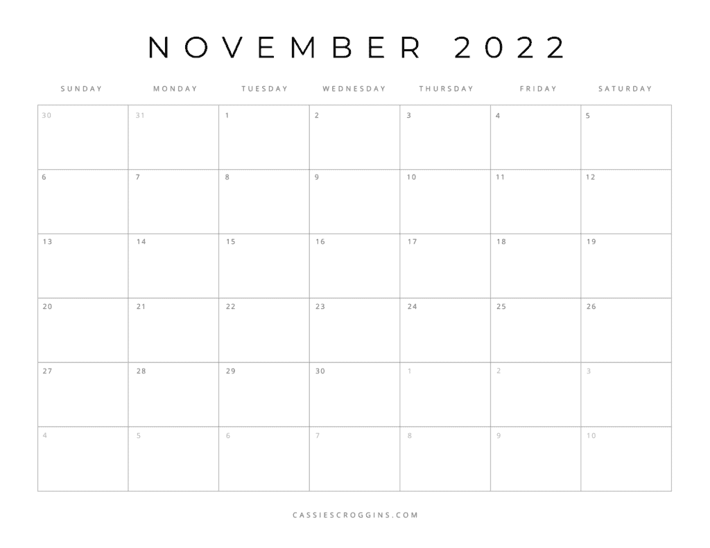 free printable november 2022 calendar pdf