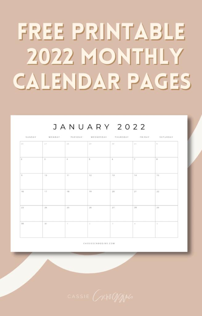 Kalenderblätter 2022