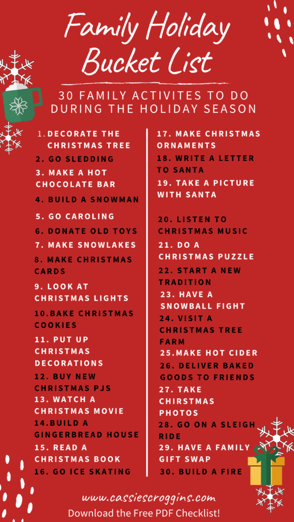30 holiday activities for families