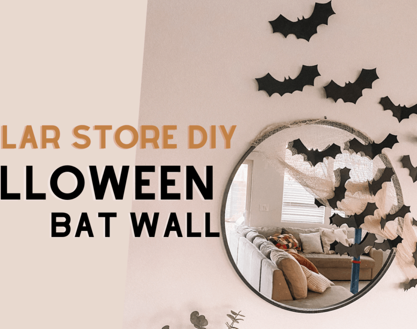 dollar store diy cheap halloween bat wall decor